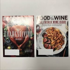 Magazine Lot of 2 Food & Wine